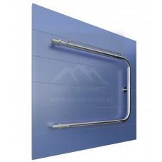 П-образный полотенцесушитель с полочкой подключение 320 мм